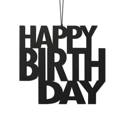 HBS2-Happy-Birthday-black-fødselsdag-living-pynt-interior-bolig-brugskunst-ophæng-Felius-Design