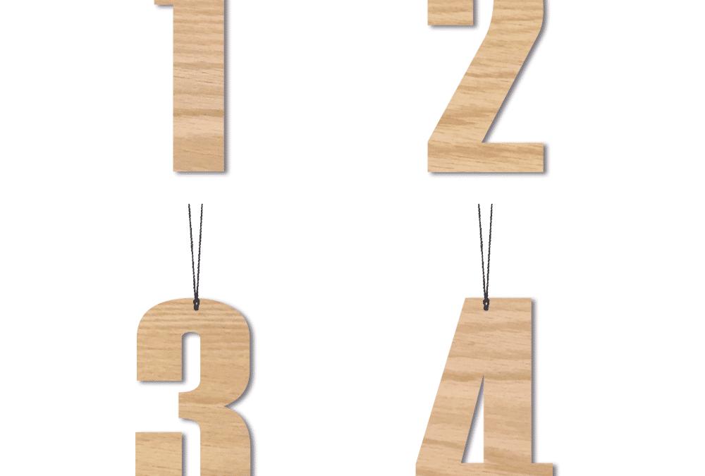 Adventstal, 6 cm – Egetræ