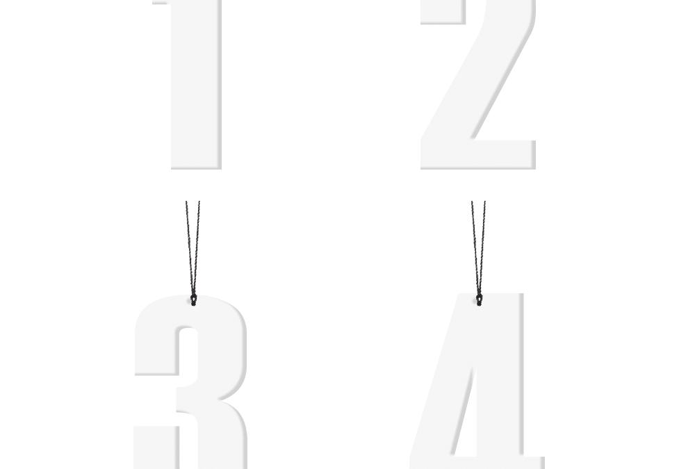 Advents tal, 6 cm – hvid