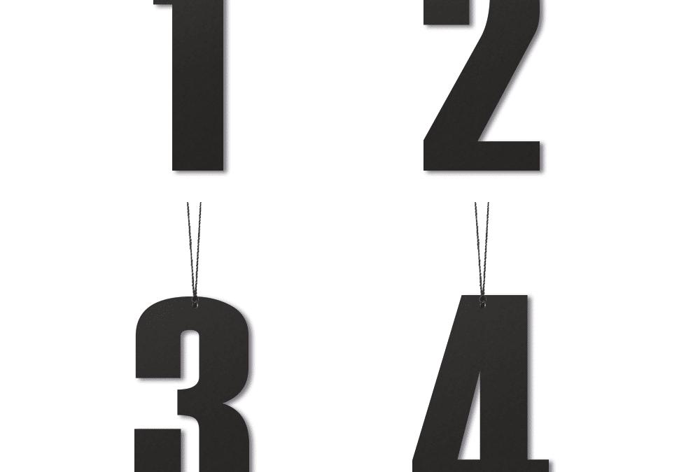 Advenst tal 6 cm – Sort
