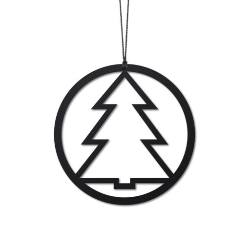Kugle Juletræ, sort