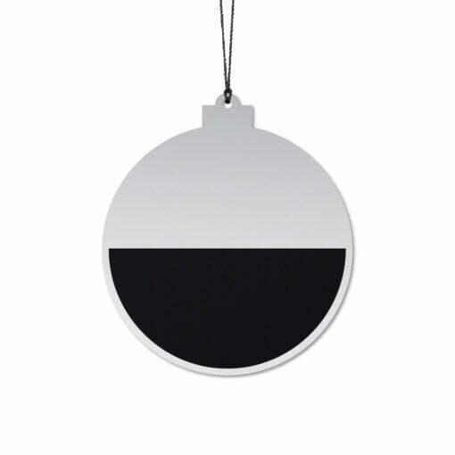 Julekugle Elegant, Sort/Sølv