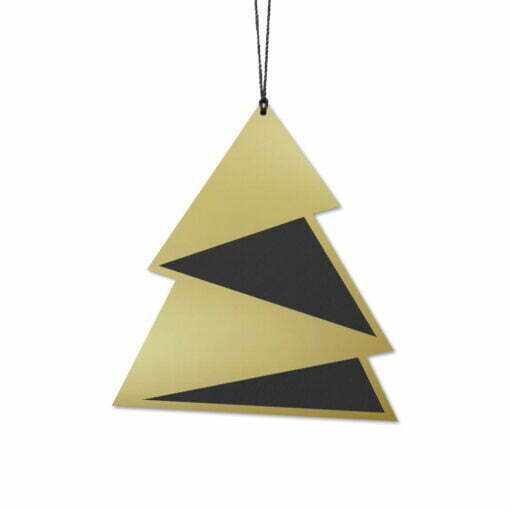 Juletræ Elegant, Sort/Guld