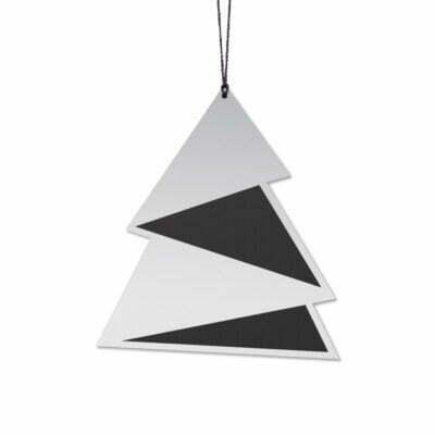 Juletræ Elegant, Sort/Sølv
