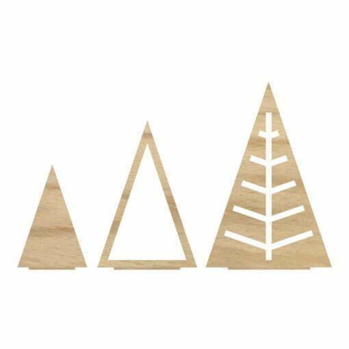 Juletræ trekant, Sæt, Egetræ
