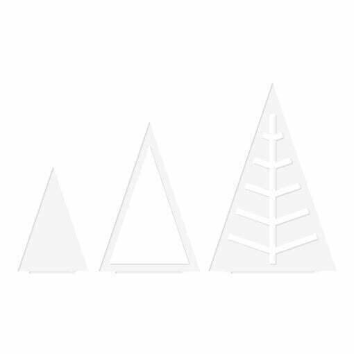 Juletræ takker, hvid