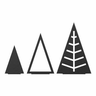 Juletræ trekant, Sæt, Sort