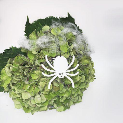 Halloween Edderkop, Hvid - Felius