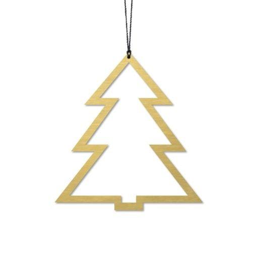 Juletræ, messing - Felius